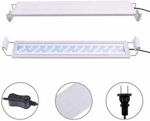白 水槽ライト38CM HOPOPOWER水槽用ledライト10W 水槽照明LEDライト エルエンスタジオ 水槽用2色LED 5