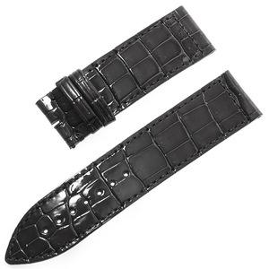 RASINオリジナル フランクミュラー ロングアイランド 尾錠用革ベルト クロコ 裏ラバー 艶有り ダークグレー 22mm-22mm FMLIAB2222 腕時計