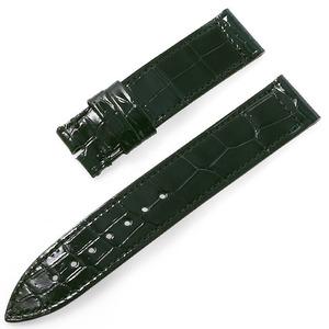 RASINオリジナル フランクミュラー ロングアイランド 尾錠用革ベルト クロコ 裏ラバー 艶有り 緑/グリーン 16mm-16mm FMLIAB1616 腕時計