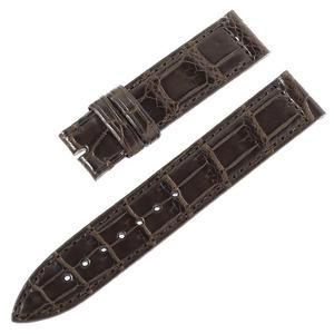 RASINオリジナル フランクミュラー ロングアイランド 尾錠用革ベルト クロコ 裏ラバー 艶消し 濃茶/ダークブラウン 16-16mm FMLIAB1616
