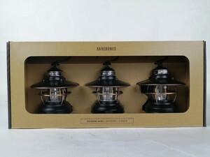 (新品未使用)ベアボーンズ エジソンミニ アンティークブロンズ3個セット LEDランタン/ Edison Mini