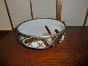 鉢 網の鉢 昭和レトロ 泰山窯 菓子鉢 盛鉢