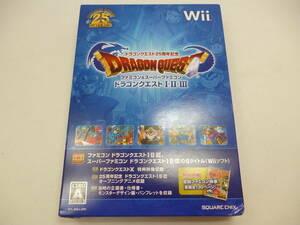 即決有!! 伝説のRPG Wii ドラゴンクエスト25周年記念 ファミコン&スーパーファミコン ドラゴンクエストⅠ・Ⅱ・Ⅲ ゲーム ソフト 中古