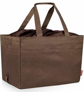 Jiko エコバッグ レジかご 折りたたみタイプ 巾着付 保冷はっ水素材使用 30L 耐久性 レジかごバッグ バッグ 買い物バッグ 茶色 JIKO 新品