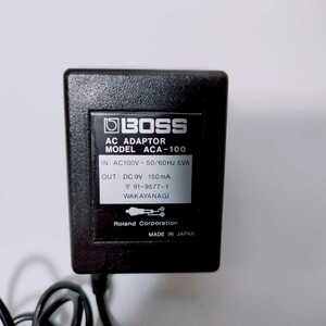 [ immediate payment use period 3 months degree * superior article * operation verification ending ]BOSS AC adaptor ACA-100 ACA100 9V 150mA