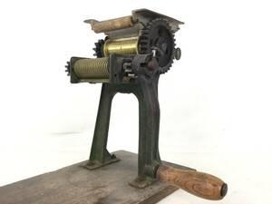 小野機械製造所 小野式A型 製麺機(片刃)*ジャンク品
