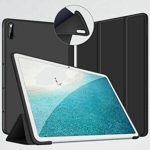 新品 未使用 10.4 MatePad T-KB PUレザ- 傷つけ防止-ブラック ケ-ス 10.4インチ ソフトカバ- 全面保護 三つ折りスタンド 耐衝撃 薄型