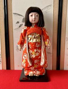 市松人形 徳山 初代東光 アンティーク品 女の子昭和初期 日本人形 アンティークドール 玩具