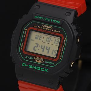 1円★未使用◎稼働【カシオ Gショック】DW-5600THC デジタル 200M アラームクロノ 赤×黒 箱付 QZ メンズ腕時計 500A0136901