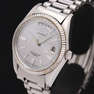 1円●稼働品●良品【RICOH/リコー】自動巻き デイデイト 21石 純正ブレス メンズ腕時計 500A0132473