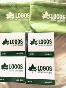LOGOS アウトドア キャンプ 保冷 保温 マグカップ4個 保冷バッグ 2個セット