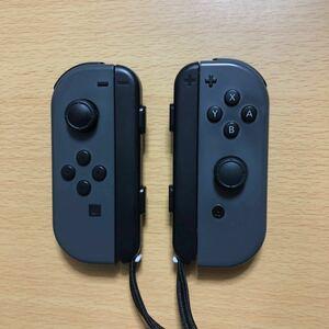 ★Nintendo Switch ジョイコン Joy-Con (L)(R) グレー ストラップ付