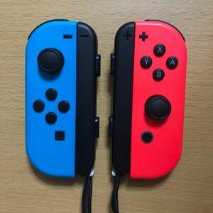 ★Nintendo Switch ジョイコン Joy-Con (L)(R) ネオンブルー ネオンレッド 左右セット ストラップ付