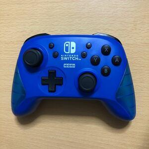 ★Nintendo Switch Proコントローラー ワイヤレスホリパッド ブルー ジャンク