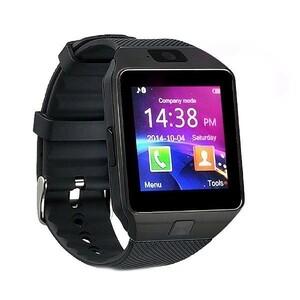 【DZ09】カメラ付き スマートウォッチ●ブラック bluetooth同期 多機能腕時計 Android対応 日本語説明書付属