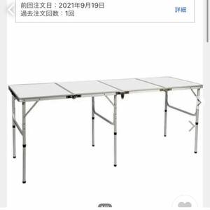 クイックキャンプ QUICKCAMP アウトドア 折りたたみテーブル ホワイト