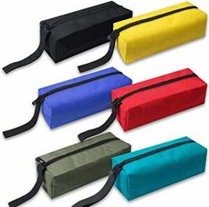 6色セット(黒、黄、青、赤、緑、ターコイズ) COLORBIRD 工具袋 6色セット 工具入れ ツールバッグ 袋 小型 ペンケー