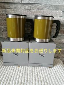 サーモマグ マグカップ カーキ 400ml 2個 保温保冷◎ アウトドアにも最適 複数購入のみ値下げします!