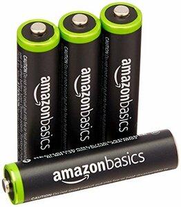★2時間限定 ★ベーシック 充電池 充電式ニッケル水素電池 単4形4個セット (最小容量750mAh、約1000回使用可能)