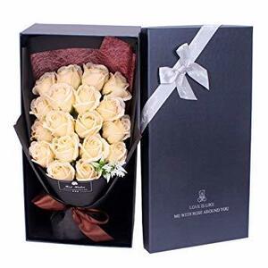 シャンパン ソープフラワー 母の日 花 LangRay 花束 造花 プレゼント ギフト エレガント 石?花 石?フラワー 贈り物