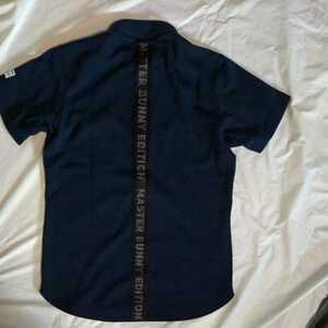 新品正規品 マスターバニー パーリーゲイツ サイズ3 2021モデルの最新作 バックラインロゴ 高機能 ポロシャツ ネイビー 送料無料