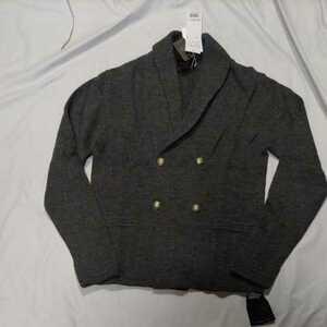 新品正規品 マスターバニー パーリーゲイツ サイズ4  アルパカ×羊毛 高級 ニットジャケット グレー 送料無料 定価59400円