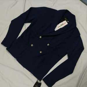 新品正規品 マスターバニー パーリーゲイツ サイズ4  アルパカ×羊毛 高級 ニットジャケット 紺ブレ 送料無料 定価59400円