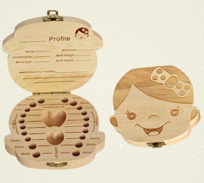 乳歯ケース 1個 木製 保存 記念 女の子 男の子 メモリアル