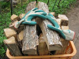 乾燥薪 1年乾燥 ミズナラ 水楢 45cm 約24kg 薪ストーブ キャンプ 発送 長野 焚火 薪 焚火台