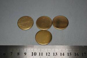 真鍮丸板 t=2.0 φ25 10枚セット