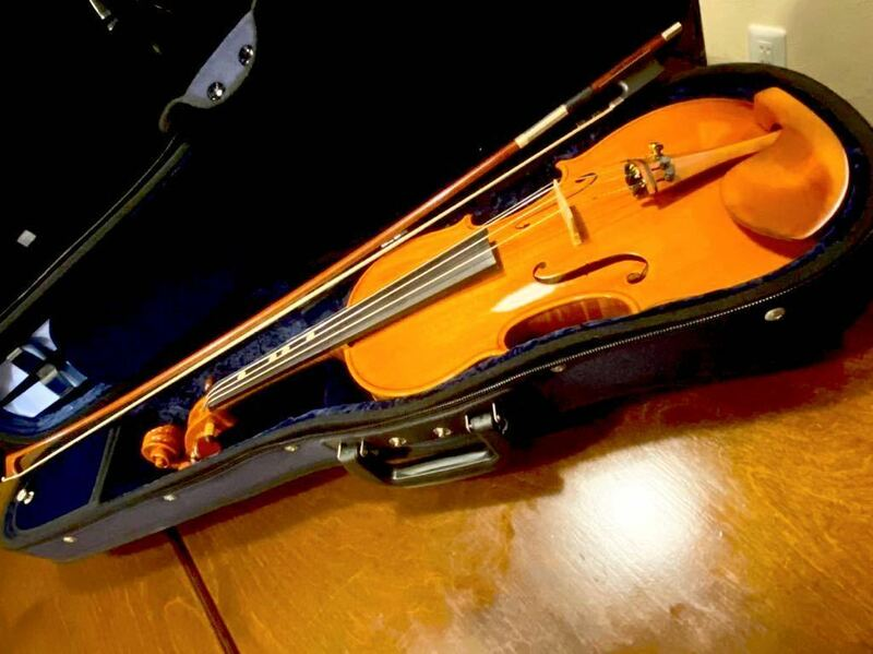 ●CHACONNE EH391 Guarneri model anno 2017 バイオリン シャコンヌ 定価140万円●弓MANOEL FRANCISCO 20万円