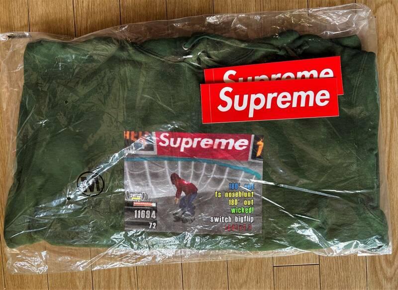 【新品未開封】Supreme / Thrasher Hooded Sweatshirt Green Medium 21FW 正規品付属品完備 スラッシャーボックスロゴboxlogonikedunk