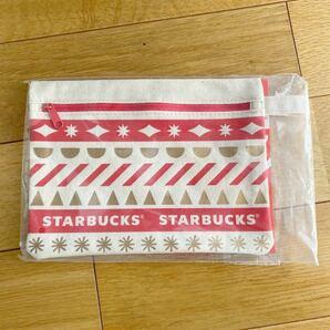 ☆新品未開封 スタバ ポーチ 非売品 スターバックス 限定 Starbucks ホリデー ①