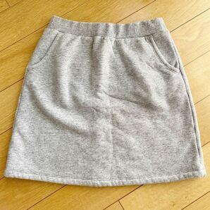 ☆美品 ユニクロ UNIQLO キッズ 裏毛 スカート ガールズ 150cm