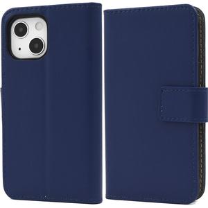 紺 ネイビー■iPhone 13 mini (5.4inch)専用 手帳型 ケース■スマホ 保護 カバー シンプル 無地 レザー カードポケット■アイフォン13ミニ