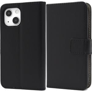 黒 ブラック■iPhone 13 mini (5.4inch)専用 手帳型 ケース■スマホ 保護 カバー シンプル 無地 レザー カードポケット■アイフォン13ミニ