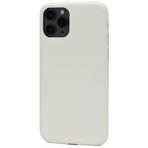 ホワイト■ iPhone 11 Pro (5.8inch) 用 セミハードケース■バックカバー スマホ 背面保護 着脱簡単 PUレザー アイフォンイレブンプロ