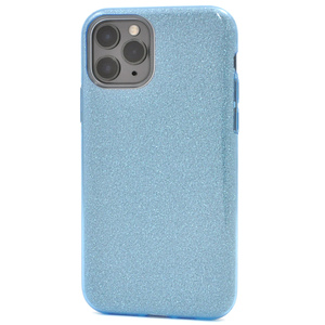 ブルー 青 グリッター■ iPhone 11 Pro (5.8inch)用 ソフト ケース■スマホ 背面保護 バック カバー かわいい ラメ アイフォンイレブンプロ