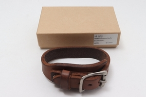 hoboホーボー HORWEEN Chromexcel Leather Braceletクロムエクセルレザーブレスレット[MACA53143]
