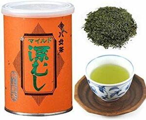 1缶 岩﨑園製茶 福岡県産 八女茶 マイルド 深むし 特上 煎茶 (缶 タイプ) 100g
