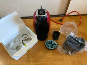 ネスカフェ ドルチェグスト ジェニオ2 ワインレッド MD9771 電気コーヒー沸器 ラテグラス(2個)
