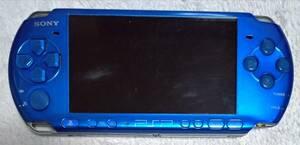 PSP-3000 プレイステーションポータブル バイブランドブルー 本体のみ ジャンク ソフト読み込み不良 簡単な動作確認OK 送料無料