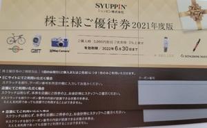 シュッピン株主優待券2枚セット 2022年6月30日まで【ネコポス送料無料】