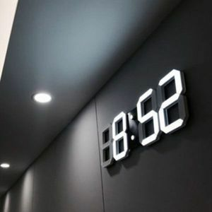 新品 選べる6色 時計 LED ウォールクロック 常夜灯 目覚まし時計 壁掛け時計 ホワイト デジタル インテリア CV74