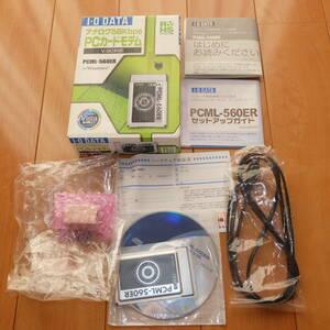 送料無料 IO DATA アイオーデータ アナログ56Kbps PCカードモデム V.90対応 PCML-560ER PCMCIA PC Card