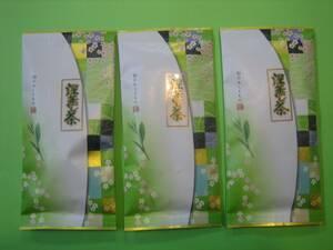 2021年産新茶 1円からスタート 3本深むし茶 100g詰×3袋 深蒸し茶②(今年も1番茶無農薬)