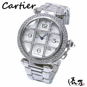 【カルティエ】パシャグリッド ダイヤモデル 38mm 自動巻 ダイヤグリッド 精度良好 美品 時計 Cartier pasha