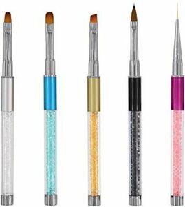 セット#2 ネイルブラシ Missct 高品質 ネイルアート筆 ジェルネイルペン フレンチ 平筆 ネイルペン アクリル 画筆 U