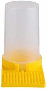 蜜蜂給餌器 ビーフィーダー 養蜂用給水装置 蜂水飲む 給餌器 養蜂用品 給水器 水注入容易 1個入り イエロー
