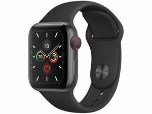 新品未開封★Apple Watch Series 5(GPS + Cellularモデル)- 40mm スペースグレイアルミニウムケースとブラックスポーツバンド MWX32J/A